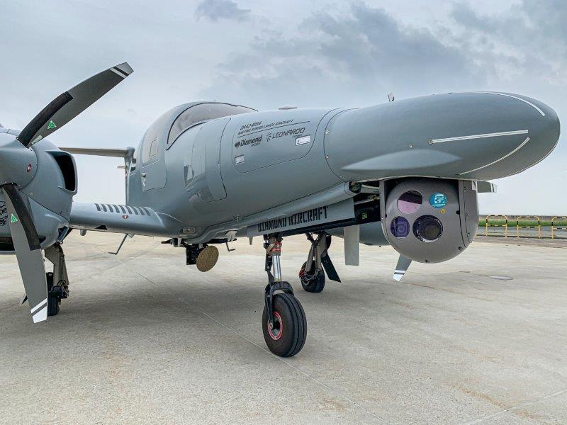 Da Leonardo e Diamond Aircraft la variante da pattugliamento marittimo del DA62