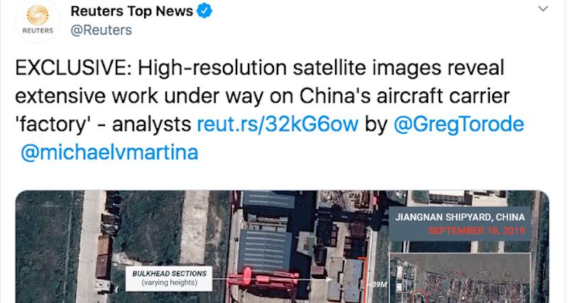 La Cina sta costruendo la sua prima portaerei di grandi dimensioni