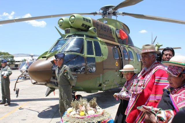 SUPER PUMA PER LA BOLIVIA - consegnato il secondo Super Puma AS332 C1e all'aeronautica militare boliviana