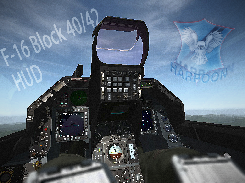 Falcon BMS Harpoon's F-16 Block 40/42 HUD (Installer)